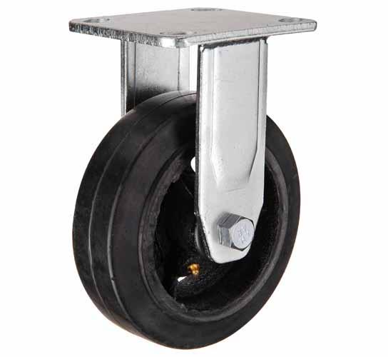 тележки, колеса и колесные опоры для тележек, большегрузные колёсные опоры, черная резина чугунная ступица игольчатый подшипни, FCd54 ,  FCd54н