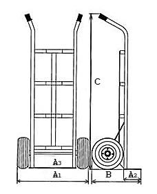 Тележки ручные для перевозки груза по лестницам
