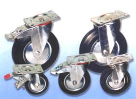 Поворотные колесные опоры для тележек.