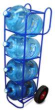 Двухколесные тележки для баллонов с питьевой водой.