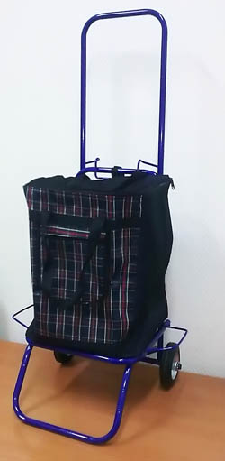 Комплект сумка-тележка хозяйственная усиленная.